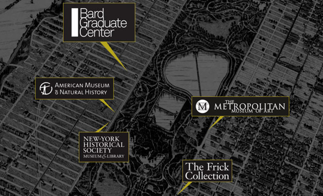 Bard Campus Map. A Map Circa Showing The Various Estates In The Town ...